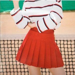 Fila Red Pleated Tennis Skirt